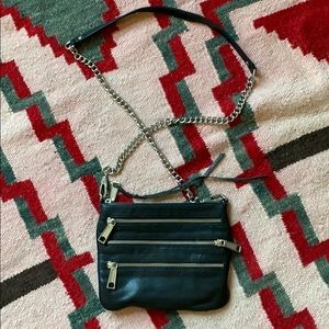 Rebecca Minkoff black 3-zip